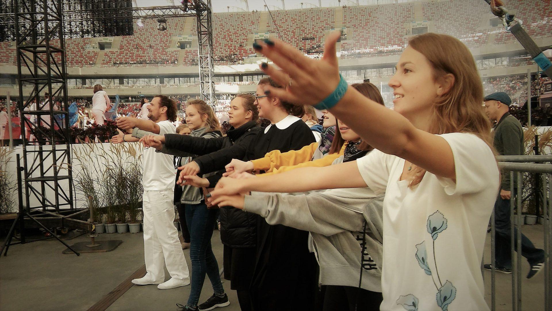 """Nasz udział w spotkaniu """"Stadion Młodych: włącz pełnię wiary"""""""