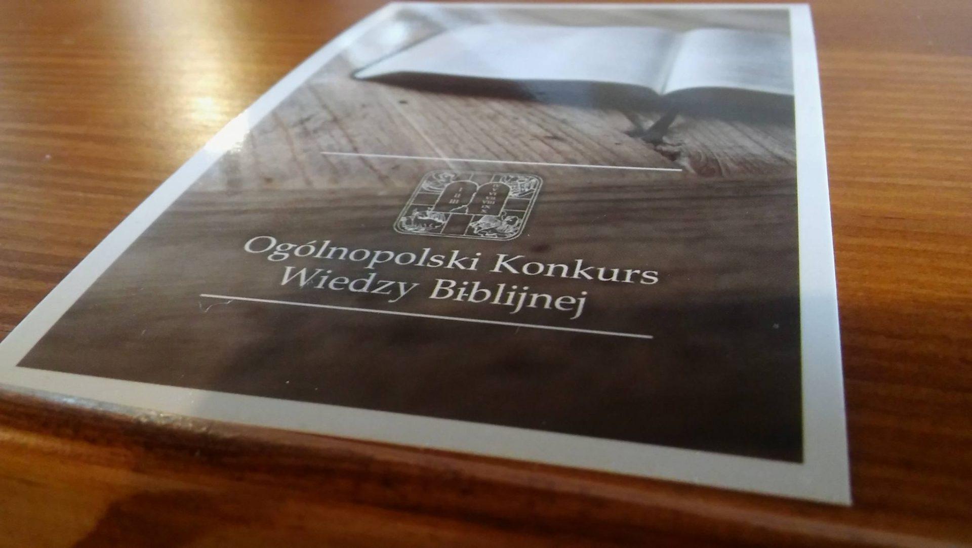 LAUREAT Ogólnopolskiego Konkursu Wiedzy Biblijnej